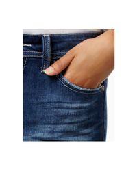 NYDJ Blue Jessica Patched Uzes Wash Boyfriend Jeans