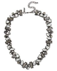 INC International Concepts | Gray Hematite-tone Stone Cluster Collar Necklace | Lyst