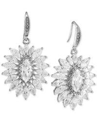 Carolee - Multicolor Silver-tone Crystal Sunburst Earrings - Lyst