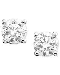 Macy's | Metallic Diamond Stud Earrings (3/8 Ct. T.w.) In 14k White Gold Or Gold | Lyst