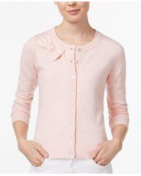Maison Jules | Pink Bow Cardigan | Lyst