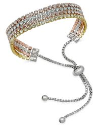 Joan Boyce - Metallic Tri-tone Multi-layer Crystal Slider Bracelet - Lyst