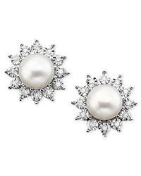 Macy's | Metallic Multistone (4-3/8 Ct. T.w.) Chandelier Earrings In Sterling Silver | Lyst