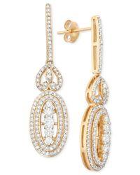 Wrapped in Love - Metallic Diamond Drop Earrings (1 Ct. T.w.) In 14k Gold - Lyst