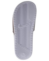 Nike White Women's Benassi Jdi Print Slide Sandals From Finish Line