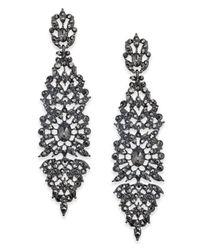INC International Concepts - Metallic I.n.c. Crystal Filigree Drop Earrings, Created For Macy's - Lyst