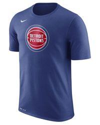 Nike - Blue Dri-fit Cotton Logo T-shirt for Men - Lyst
