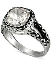 Giani Bernini - Metallic Cubic Zirconia Braided Look Ring In Sterling Silver - Lyst