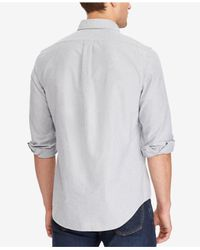 Polo Ralph Lauren - Gray Men's Standard Fit Cotton Shirt for Men - Lyst