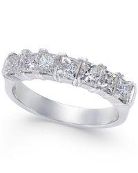 Macy's - Metallic Diamond Princess Band (1-1/2 Ct. T.w.) In 14k White Gold - Lyst