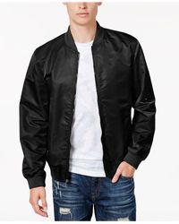 American Rag - Black Men's Nylon Bomber Jacket, Only At Macy's for Men - Lyst