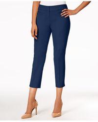 Nine West - Blue Cropped Skinny Pants - Lyst