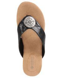 Giani Bernini - Black Rosahle Slip-on Wedges - Lyst