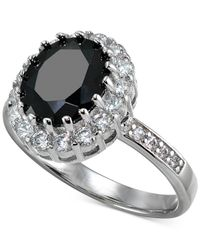 Giani Bernini | Metallic Cubic Zirconia Halo Ring In Sterling Silver | Lyst