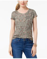 Style & Co. - Multicolor Petite Cotton Printed Top, Created For Macy's - Lyst