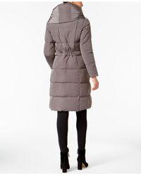 Lyst Cole Haan Asymmetrical Pillow Collar Puffer Coat