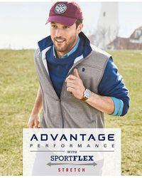 Izod | Gray Men's Spectator Fleece Vest for Men | Lyst