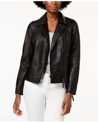 Charter Club - Black Leather Jacket, Created For Macy's - Lyst