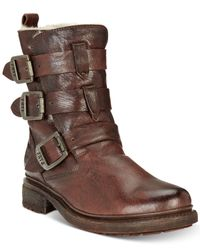 Frye - Brown Women's Valerie Strappy Boots - Lyst