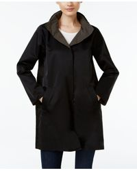 Eileen Fisher | Black Reversible Organic-cotton-blend Coat | Lyst