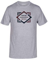 Hurley | Gray Men's Divided Premium Graphic-print Logo T-shirt for Men | Lyst