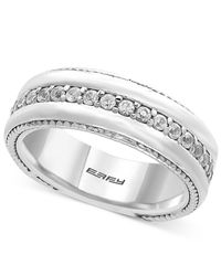 Effy Collection - Metallic Men's White Sapphire Band (1 Ct. T.w.) In Sterling Silver for Men - Lyst