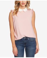 Cece - Sleeveless Collared Blouse W/ Trim (bouquet Pink) Women's Blouse - Lyst