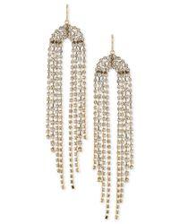 Trina Turk - Metallic Gold-tone Crystal Fringe Chandelier Earrings - Lyst