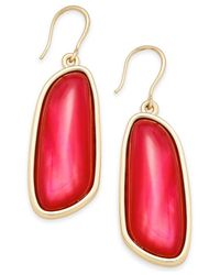Charter Club | Gold-tone Colored Shell Drop Earrings | Lyst