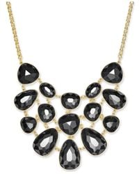Charter Club | Black Gold-tone Colored Stone Statement Necklace | Lyst