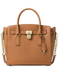 Michael Kors | Brown Hamilton Large East West Satchel | Lyst
