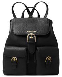 Michael Kors | Black Cooper Large Flap Backpack | Lyst