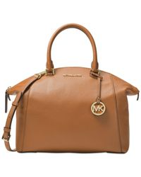 Michael Kors | Brown Riley Large Satchel | Lyst