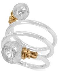 Robert Lee Morris   Multicolor Two-tone Sculptural Bead Wire-rap Coil Ring   Lyst