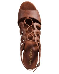 Easy Street - Brown Admire Sandals - Lyst