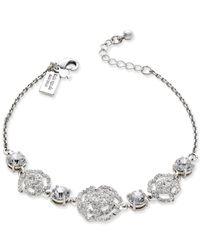 kate spade new york   Metallic Silver-tone Crystal Link Bracelet   Lyst