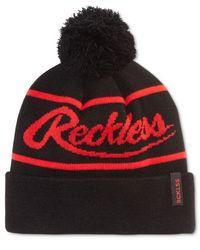 Young & Reckless   Black Men's Big R Pom Pom Logo Beanie for Men   Lyst
