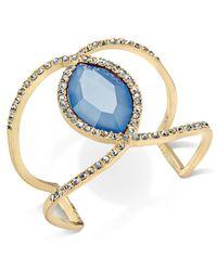 INC International Concepts - Blue Pavé & Colored Stone Open Cuff Bracelet - Lyst