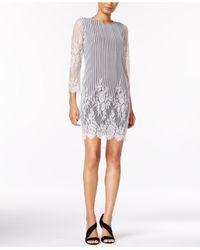 Kensie | Multicolor Lace Shift Dress | Lyst