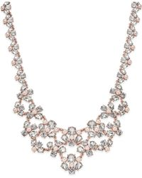 Charter Club | Rose Gold-tone Crystal And Imitation Pink Pearl Statement Necklace | Lyst