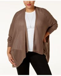 Love Scarlett | Natural Plus Size Pointelle-knit Cardigan | Lyst