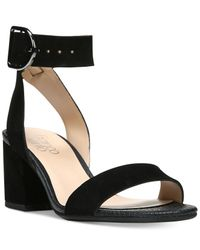 Franco Sarto | Black Marcy Block-heel Sandals | Lyst