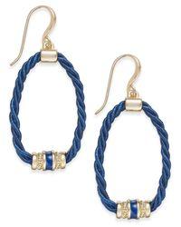 Charter Club - Blue Rope Loop Drop Earrings - Lyst