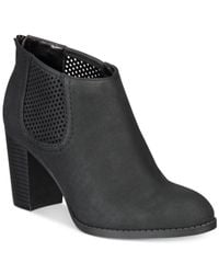 Style & Co. | Black Women's Lanaa Perforated Booties | Lyst