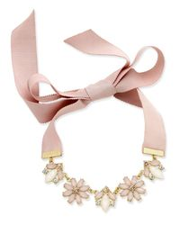 INC International Concepts | Gold-tone Clear And Pink Crystal Ribbon Choker Necklace | Lyst