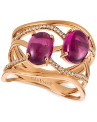 Le Vian | Multicolor Raspberry Rhodolite® (3 Ct. T.w.) And Diamond (1/8 Ct. T.w.) Ring In 14k Rose Gold | Lyst