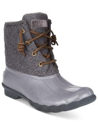 Sperry Top-Sider | Gray Women's Saltwater Duck Booties | Lyst