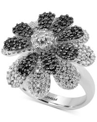Effy Collection - Metallic Diamond Flower Ring (1-3/4 Ct. T.w.) In 14k White Gold - Lyst