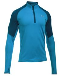 Under Armour | Blue Men's Threadborne Performance No Breaks Quarter-zip Pullover for Men | Lyst