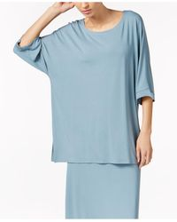 Eileen Fisher | Blue Scoop-neck Three-quarter-sleeve Tunic | Lyst